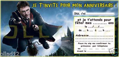 carte invitation anniversaire harry potter gratuite imprimer nanaryuliaortega web. Black Bedroom Furniture Sets. Home Design Ideas