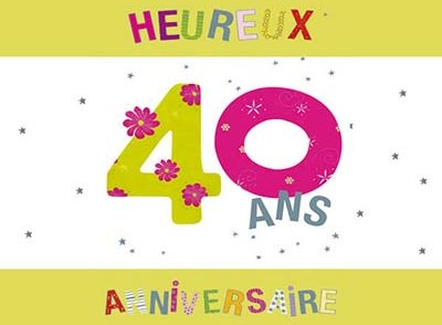 carte d invitation anniversaire 40 ans gratuite a imprimer. Black Bedroom Furniture Sets. Home Design Ideas