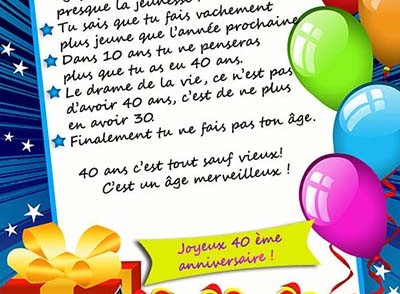 carte invitation anniversaire 40 ans gratuite a imprimer. Black Bedroom Furniture Sets. Home Design Ideas