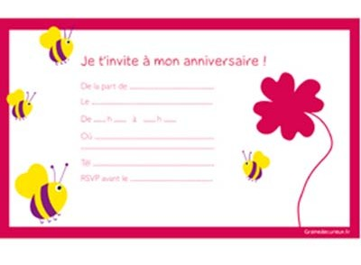 carte d invitation anniversaire 11 ans. Black Bedroom Furniture Sets. Home Design Ideas