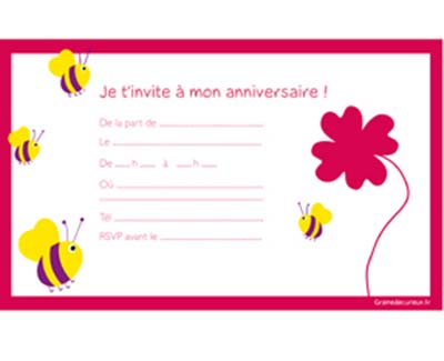 carte d invitation anniversaire 9 ans. Black Bedroom Furniture Sets. Home Design Ideas