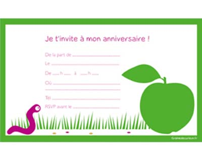 carte d invitation anniversaire gratuite a imprimer pour. Black Bedroom Furniture Sets. Home Design Ideas