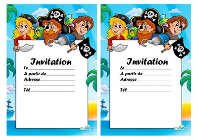 Carte anniversaire pirate gratuite - Invitation anniversaire garcon pirate ...