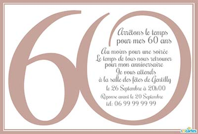 carte anniversaire 60 ans 1001. Black Bedroom Furniture Sets. Home Design Ideas