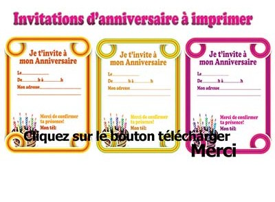 Carte Invitation Anniversaire Gratuite Adulte