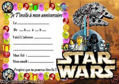 carte invitation anniversaire star wars gratuite imprimer. Black Bedroom Furniture Sets. Home Design Ideas