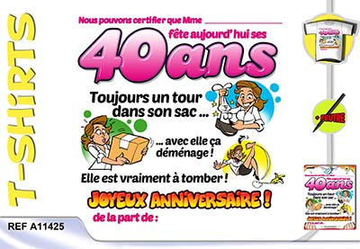 carte d anniversaire 40 ans a imprimer. Black Bedroom Furniture Sets. Home Design Ideas