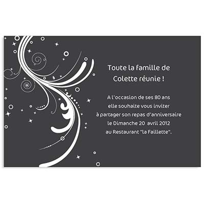 invitation anniversaire adulte. Black Bedroom Furniture Sets. Home Design Ideas