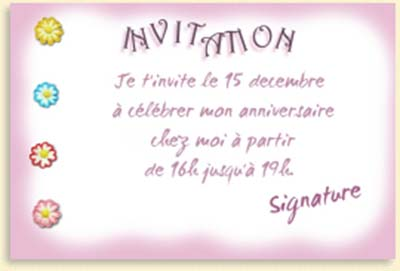 cartes d invitation d anniversaire gratuites. Black Bedroom Furniture Sets. Home Design Ideas