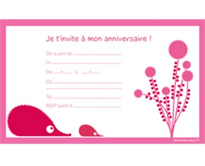 cartes invitation anniversaire