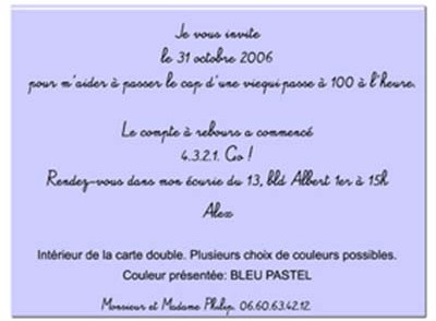 Carte D Invitation Anniversaire Texte Original Coleteremelly Web