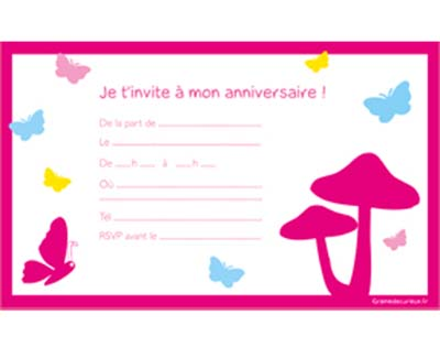 photo de carte d invitation d anniversaire. Black Bedroom Furniture Sets. Home Design Ideas
