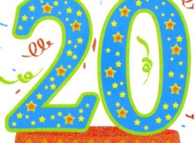carte anniversaire 20 ans a imprimer