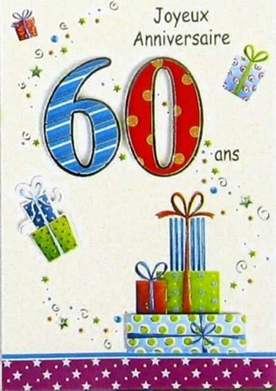 carte d anniversaire 60 ans gratuite