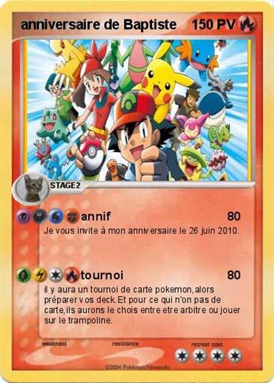 Frais carte d anniversaire pokemon a imprimer | UT03
