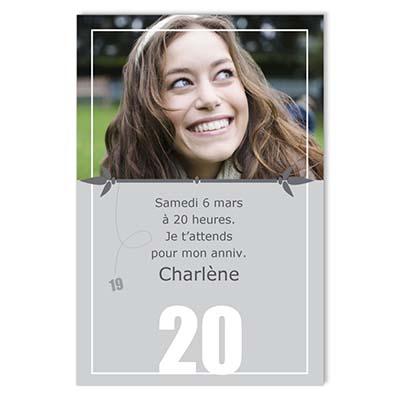 Extraordinaire carte d invitation anniversaire 20 ans | SP-63