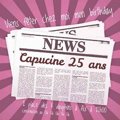 Croissant carte d invitation anniversaire gratuite a imprimer adulte | BI-49