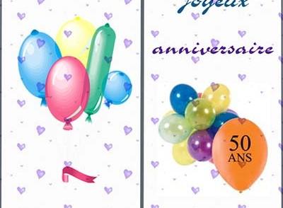 Carte anniversaire 50 ans 0 imprimer