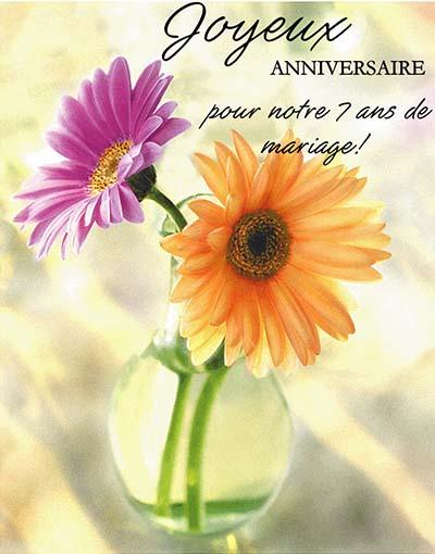 Belles cartes anniversaire de mariage
