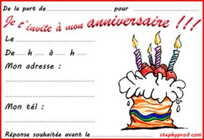Carte d'anniversaire imprimer